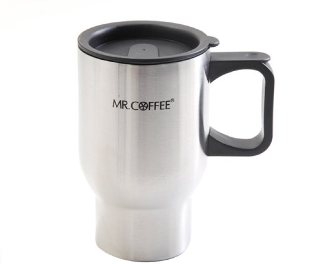 Mr Coffee Expressway  Ounce Double Wall Stainless Steel Travel Mug  Pack Walmart Com