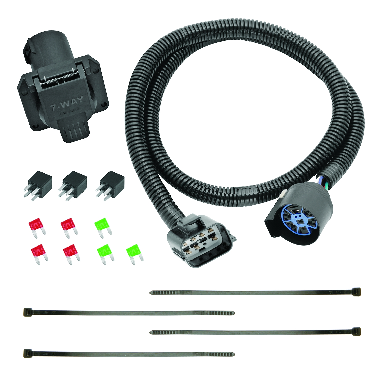 hight resolution of tekonsha 118271 trailer wiring connector 7 way round replacement for oem wiring harness
