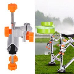 Fishing Chair Brackets Aluminum Rocking Durable Alloy Rod Pole Holder Clamp Bracket Tackle Accessory Walmart Com