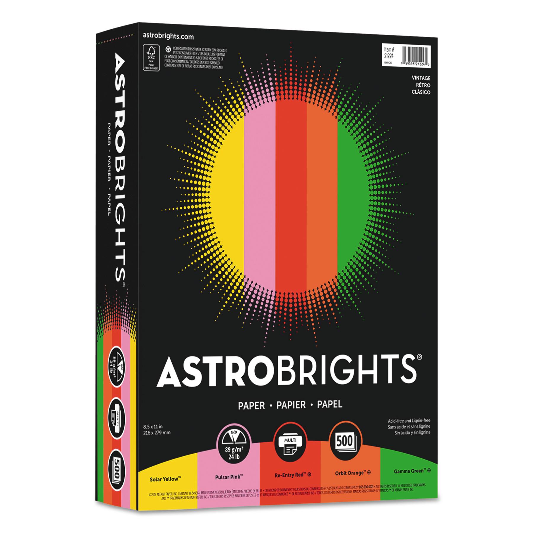 Astrobrights color paper vintage assortment lb  also rh walmart