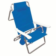 Beach Chair Pillow With Strap Best Folding Chairs Hawaiian Tropic Five Position Carrying Pocket Organizer Head Rest Cup Holder Walmart Com