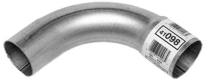 walker exhaust 41098 exhaust pipe bend 90 degree 2 1 4 inch diameter aluminized steel 4 inch bend radius 12 inch overall length single