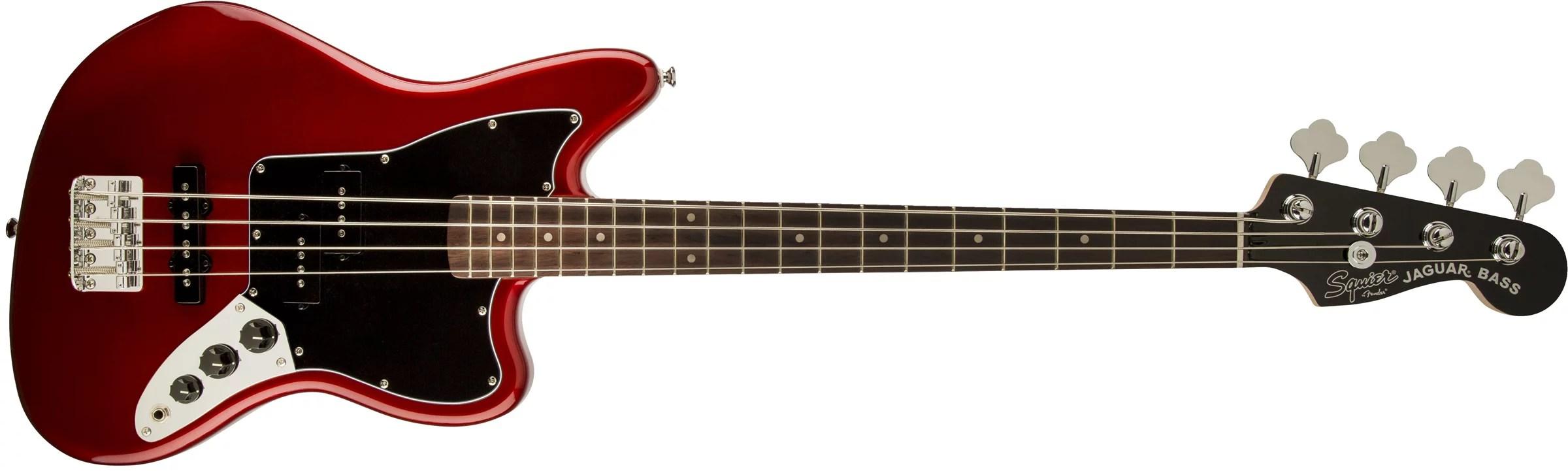 Fender Squier Vintage Modified Short Scale Jaguar Bass Guitar - Candy Apple Red - Walmart.com
