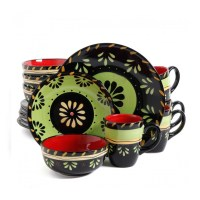Gibson Elite Escolata 16pc Dinnerware Set - Walmart.com