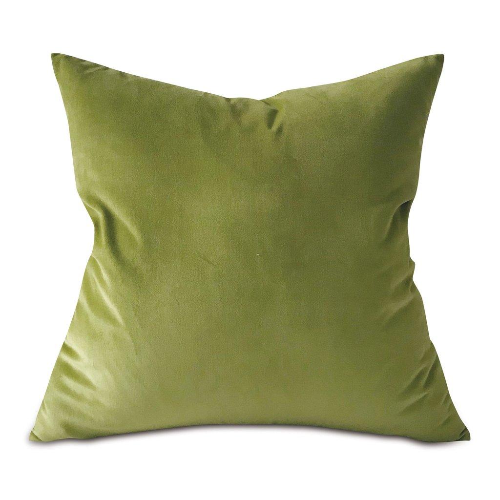 fern green lux velvet throw pillow cover 22 x22