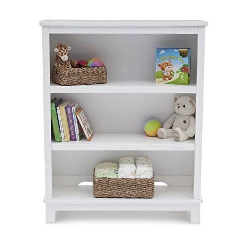 delta children epic 3 tier kids bookshelf white