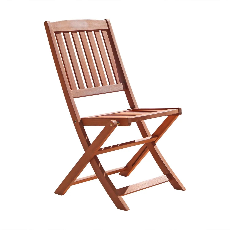 bistro chairs outdoor plush leather chair vifah wood folding set of 2 walmart com