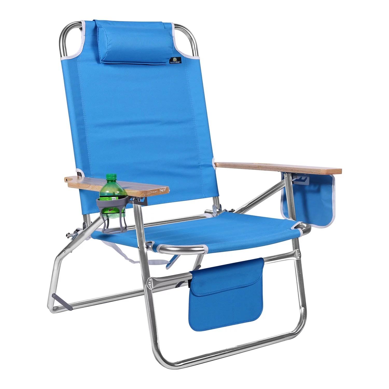 big jumbo 500 lbs xl aluminum heavy duty beach chair for big tall 4 reclining positions walmart com walmart com