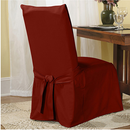 dining chair slipcover kitchen table chairs 2 sure fit cotton duck walmart com