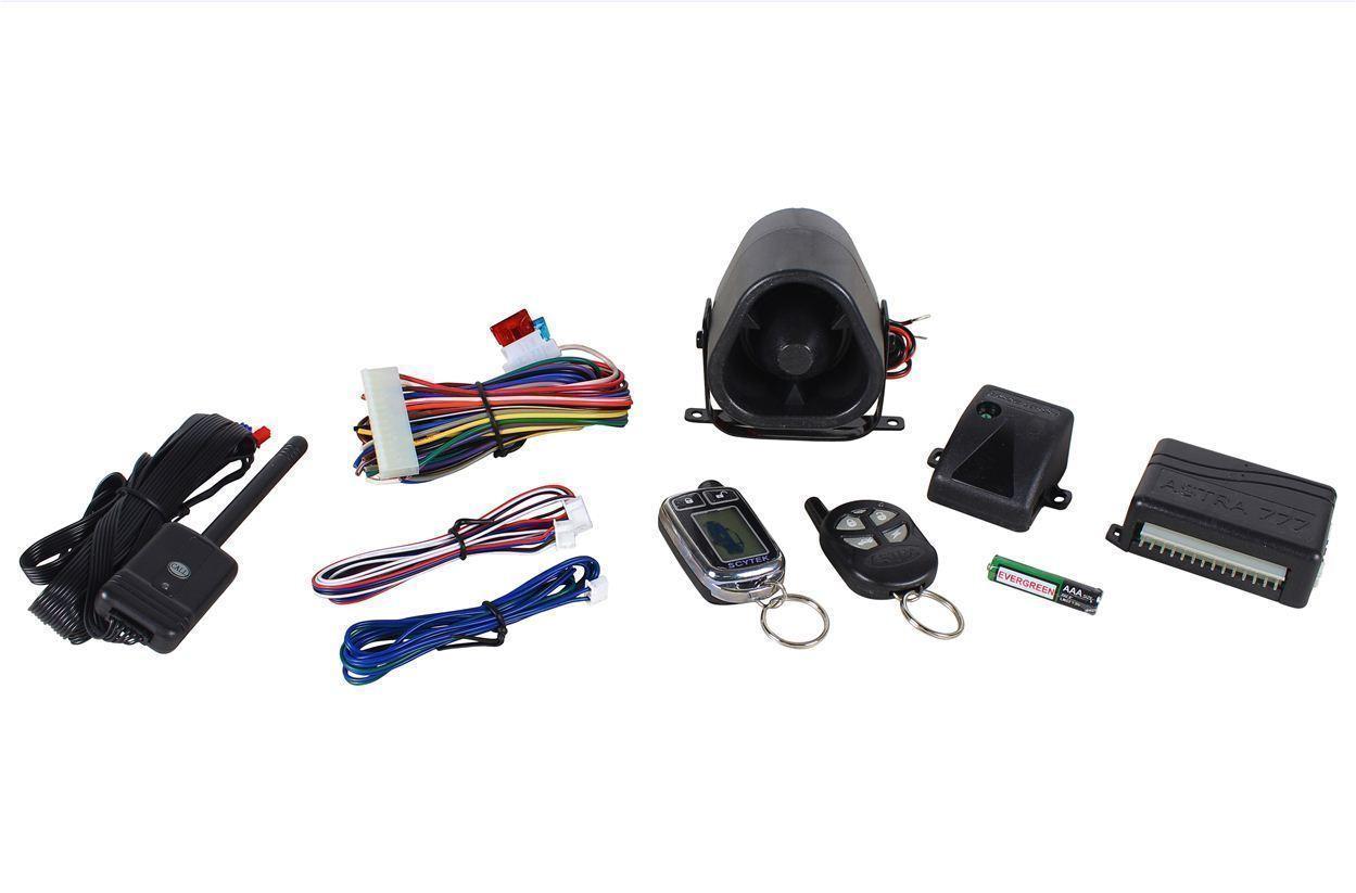 hight resolution of scytek astra 777 c chrome car alarm security system 5 button 2 way lcd remote walmart com