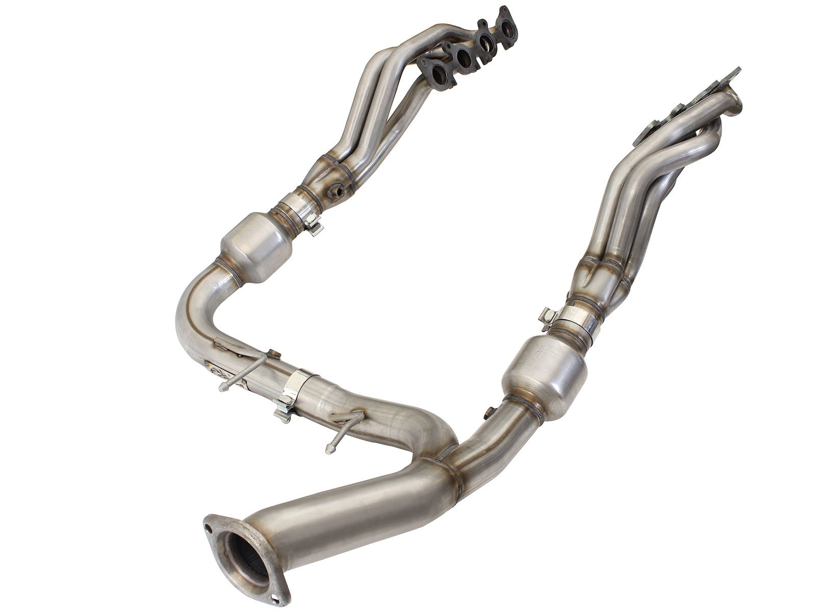 aFe Twisted Steel Headers & Y-Pipe SS 15-16 Ford F-150 V8 5.0L with Cats