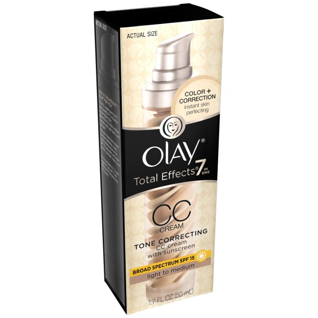Olay ® Total Effects ® 7-in-One CC Cream with Broad Spectrum SPF 15 Sunscreen Light to Medium 1.7 fl. oz. Box