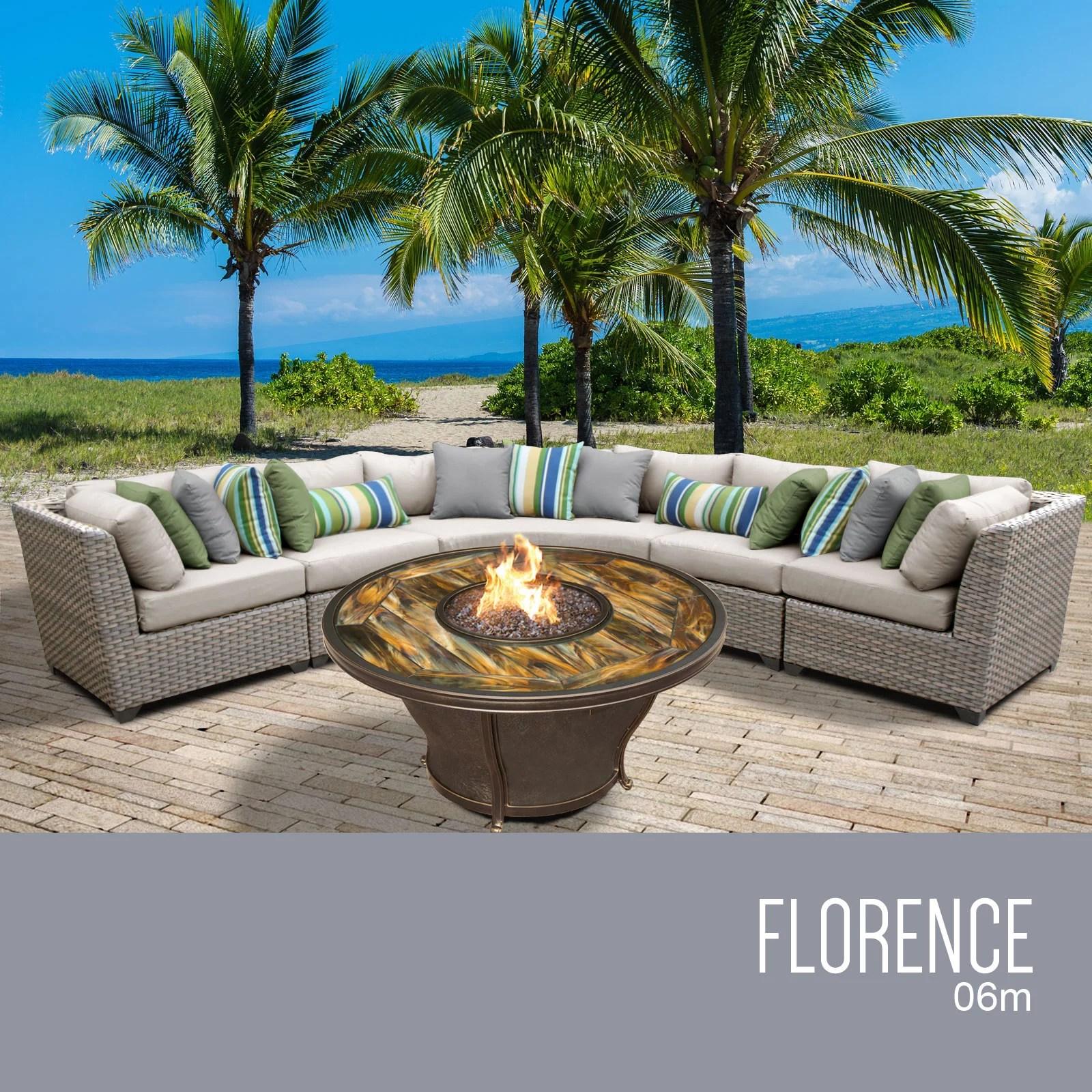 florence 6 piece outdoor wicker