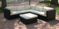 Black Resin Wicker Outdoor Furniture Sectional Sofa Set ...