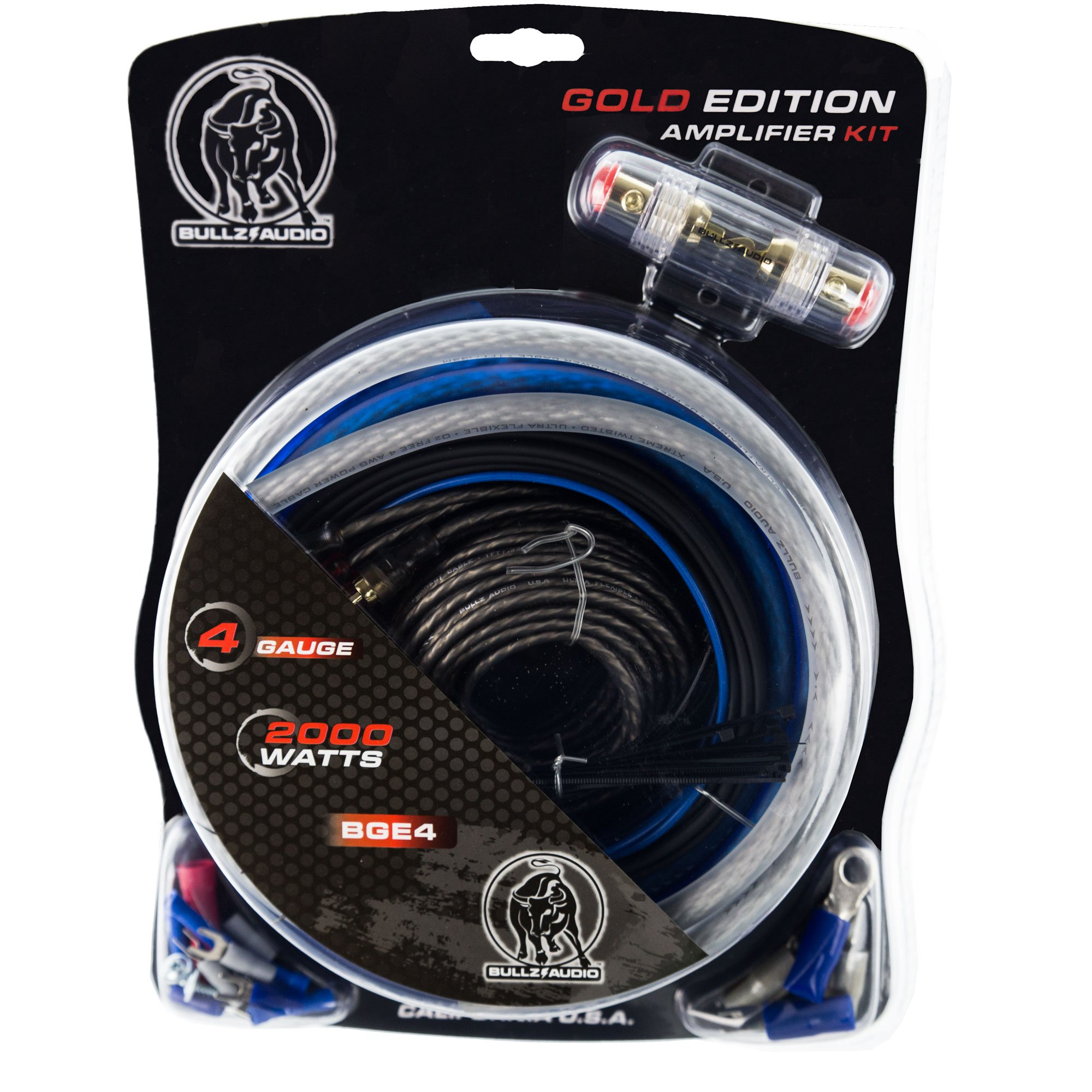 hight resolution of bullz audio 4 gauge 2000w car audio amplifier installation power amp wiring kit walmart com