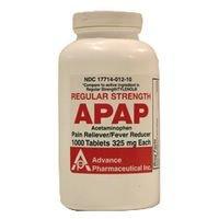 Acetamin Acetaminophen Tablets 325 Mg -1000 Ea - Walmart.com