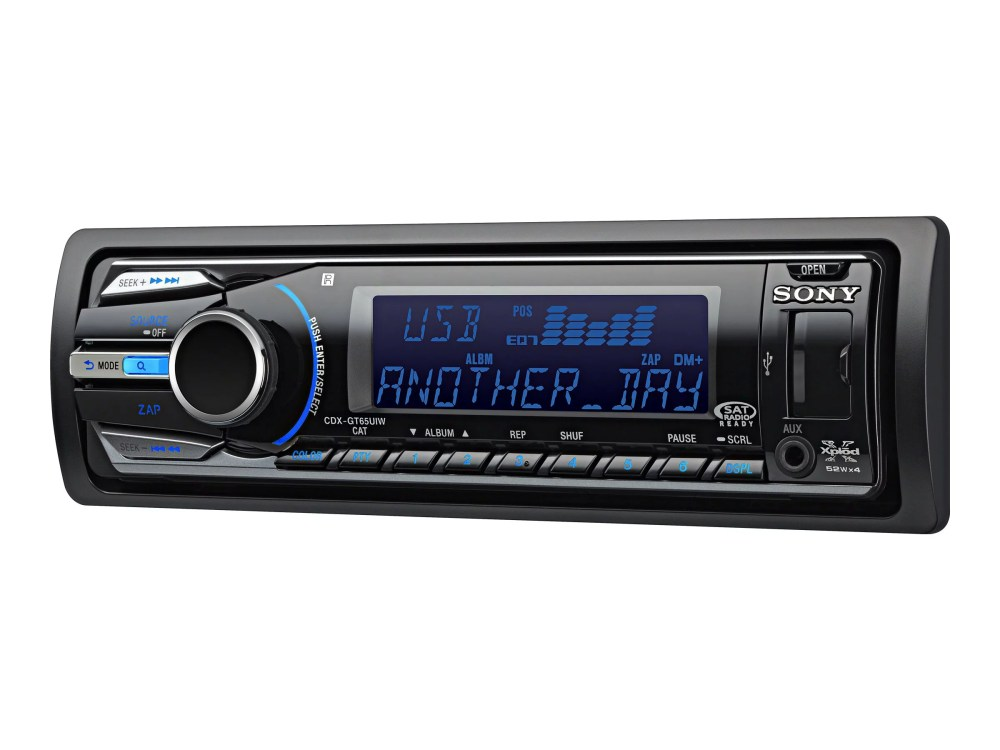 medium resolution of sony xplod cdx gt65uiw car cd receiver with usb 1 wire and dynamic color illuminator walmart com
