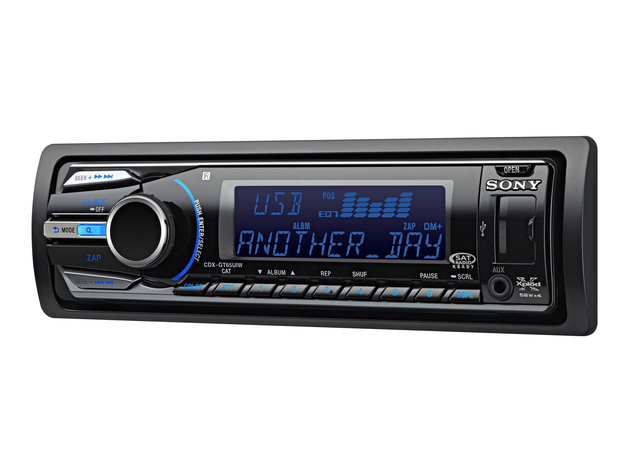 hight resolution of sony xplod cdx gt65uiw car cd receiver with usb 1 wire and dynamic color illuminator walmart com