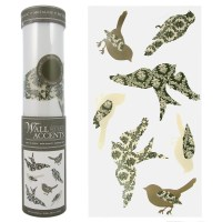 Peel N' Stick Bird Wall Decals Accents Collage Prints