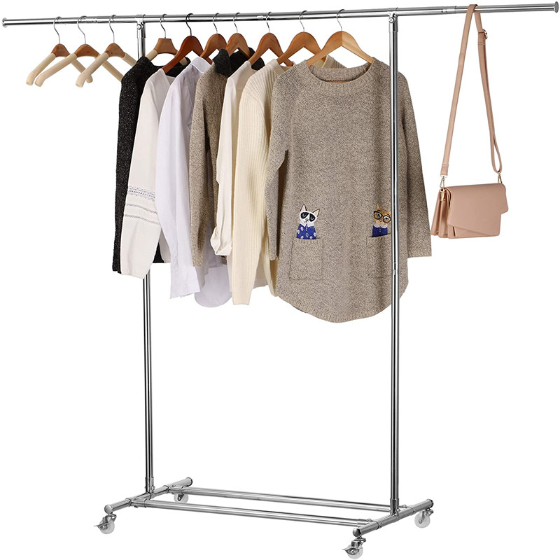 250 lbs clothing garment rack clothes hanger heavy duty clothes rolling rack on wheels commercial grade adjustable collapsible rolling clothes rack