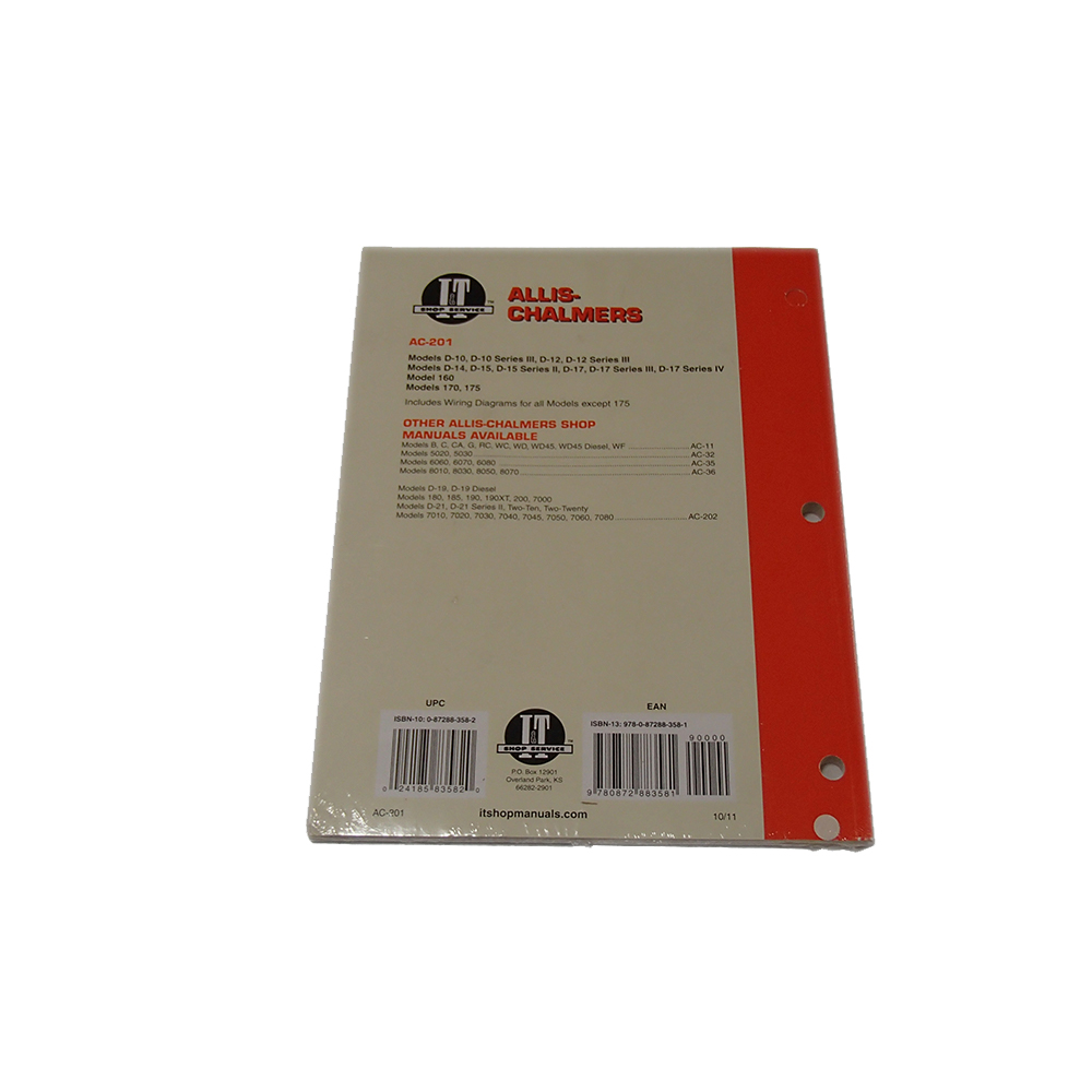 medium resolution of i t ac 201 shop service manual collection for allis chalmers d10 d12 d15 d17 walmart com
