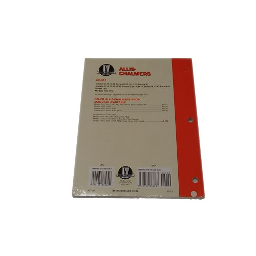 small resolution of i t ac 201 shop service manual collection for allis chalmers d10 d12 d15 d17 walmart com