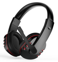 stereo gaming headset for ps4 xbox one pc noise cancelling over ear headphones with mic bass surround soft memory earmuffs for laptop mac nintendo  [ 1500 x 1500 Pixel ]