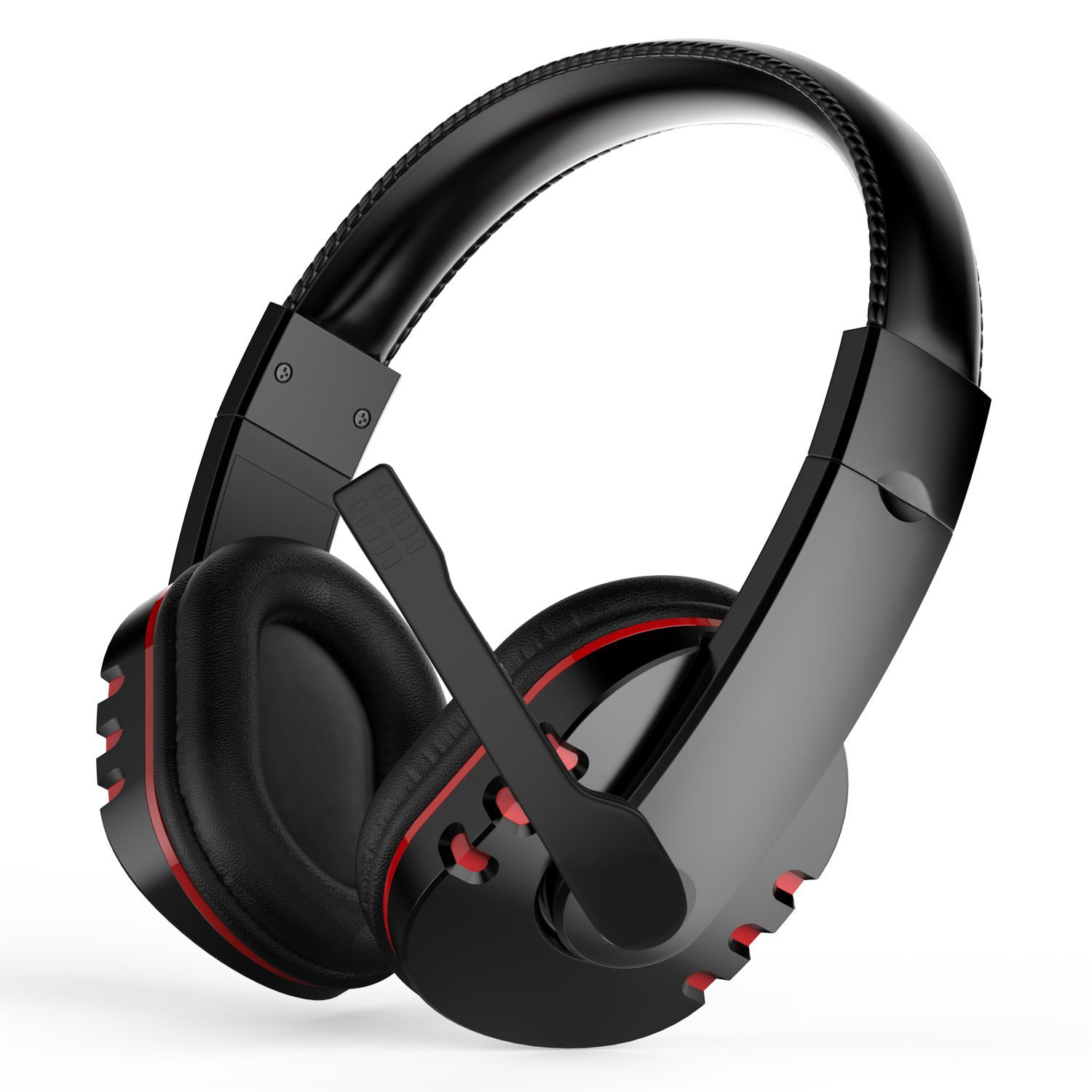 hight resolution of stereo gaming headset for ps4 xbox one pc noise cancelling over ear headphones with mic bass surround soft memory earmuffs for laptop mac nintendo