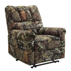 Camo Recliner Chair Adarondak Plans For Adults Rustic Cabin Furniture Camouflage Man Cave Hunter