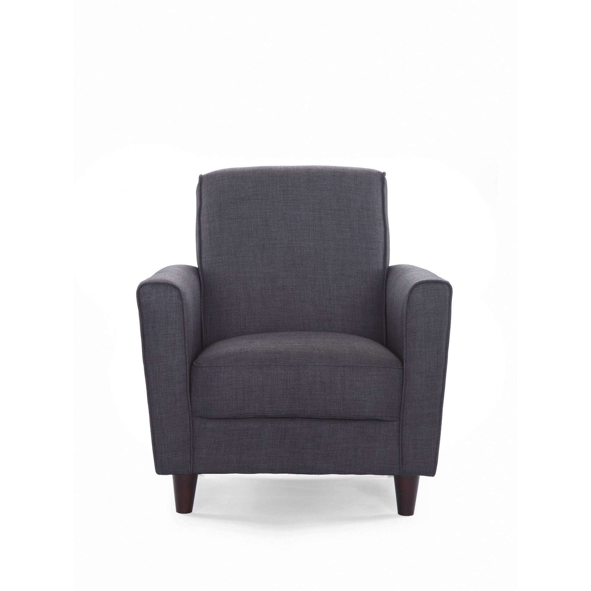 accent chair with arms types of bean bag chairs dhi enzo arm solid woven multiple colors walmart com