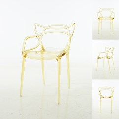 Transparent Polycarbonate Chairs Wingback Office Chair Enstrudel Dining Set Of 2 Yellow Walmart Com