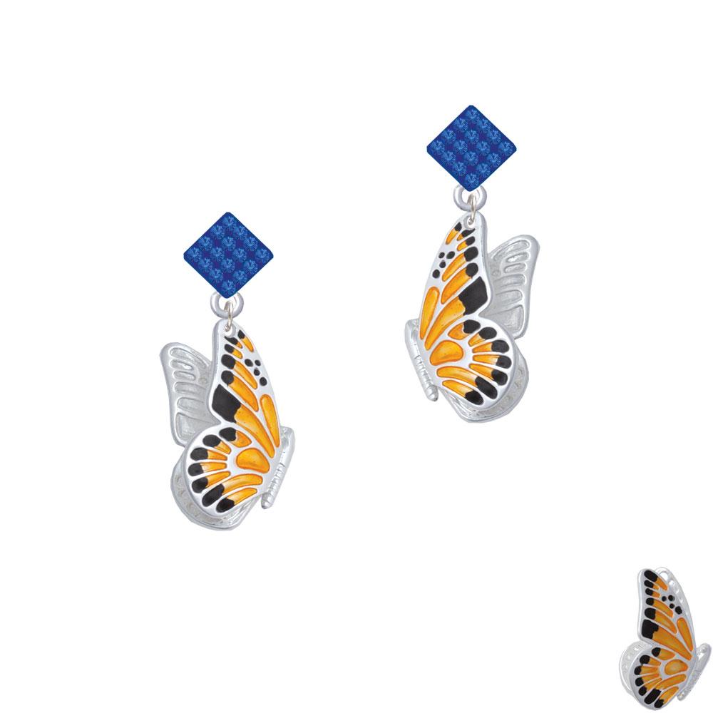 Delight Jewelry Large Orange Black Flying Butterfly