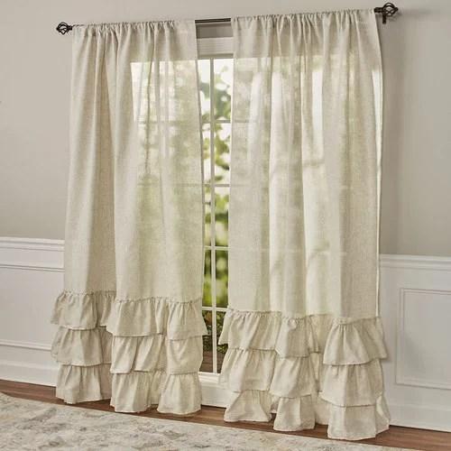 ruffled burlap curtain collection 84 panel