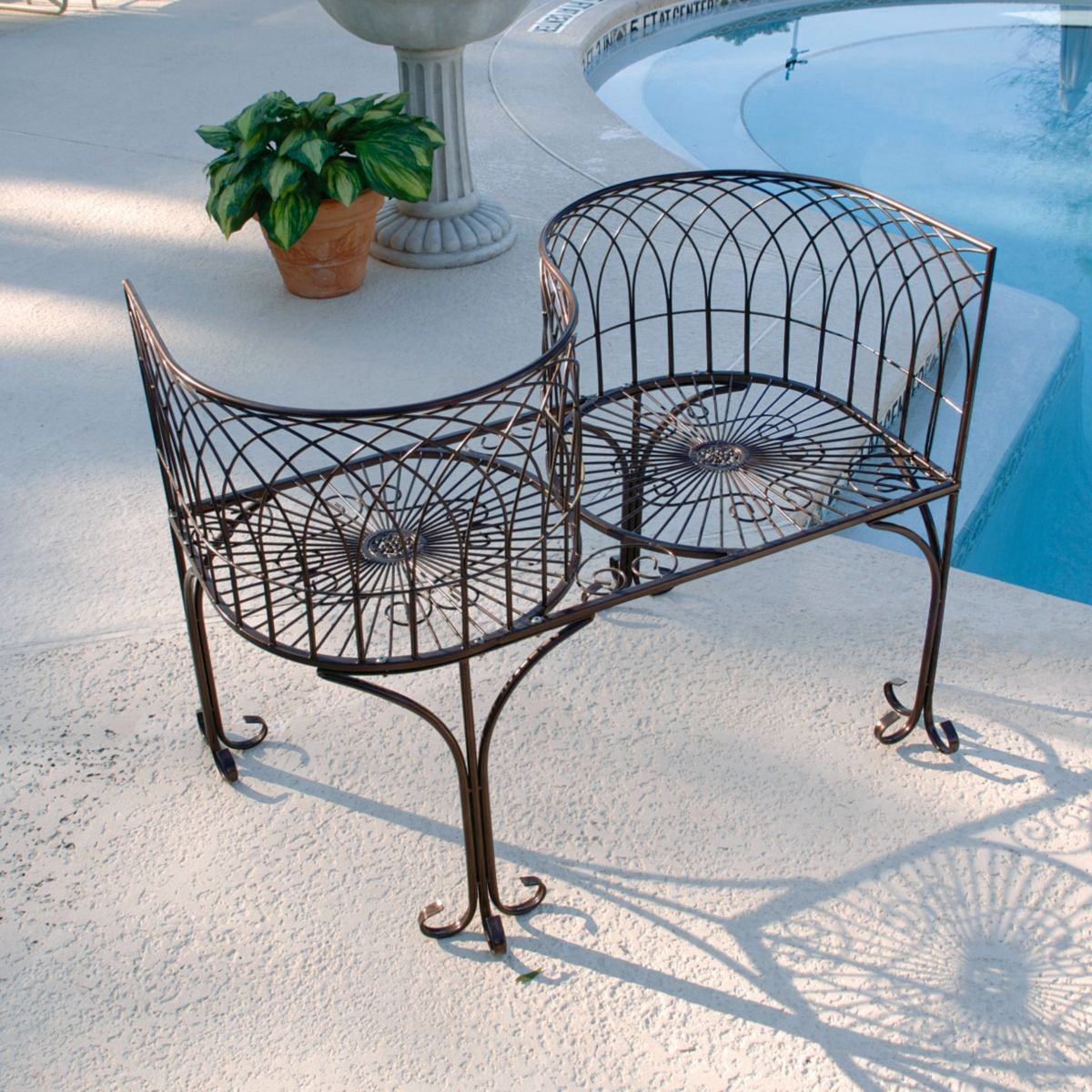 tete a chair outdoor upholstered bar chairs 41 in metal kissing garden bench walmart com departments