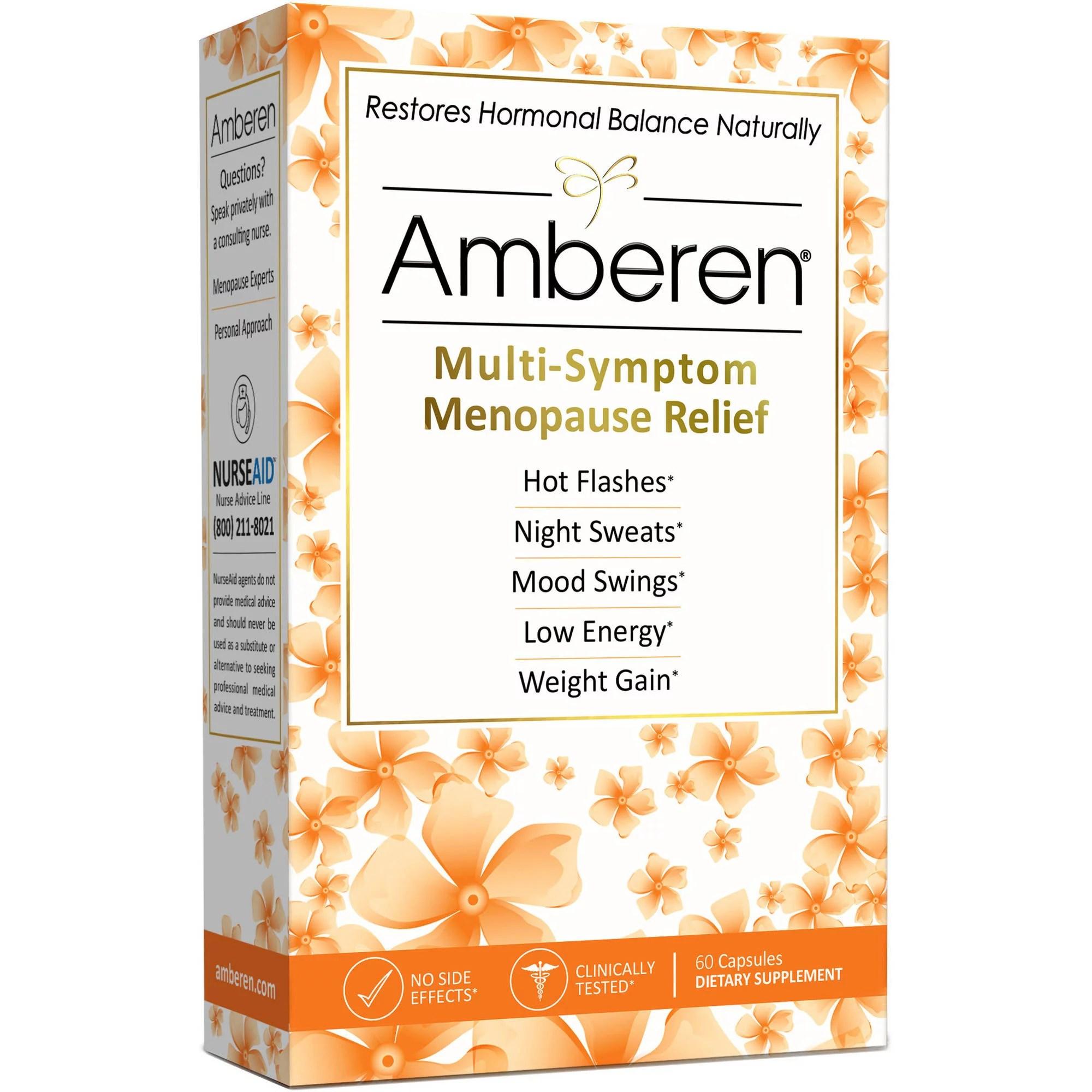 Amberen Multi-Symptom Menopause Relief Dietary Supplement ...