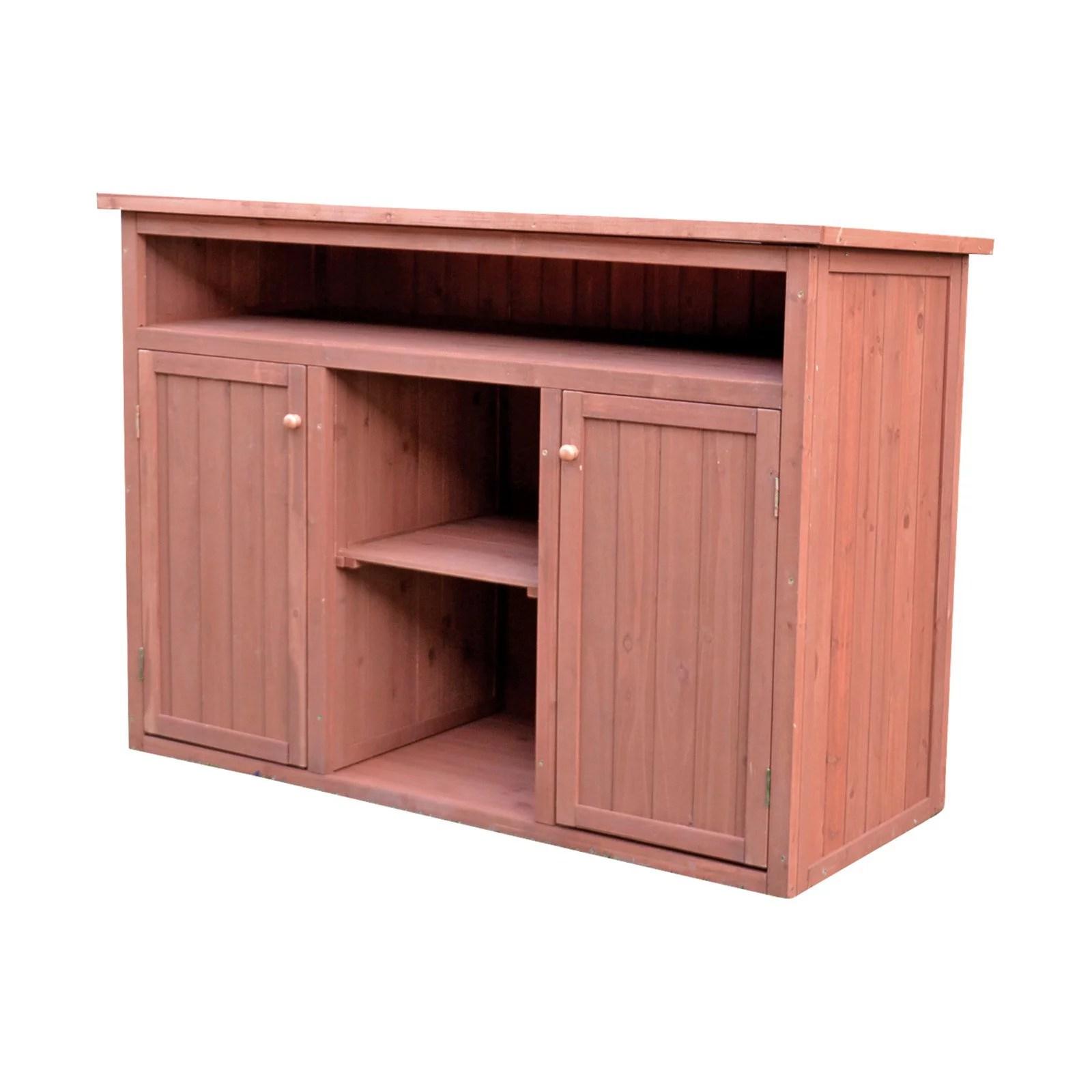 Leisure Season Short Display and Hideaway Storage Cabinet