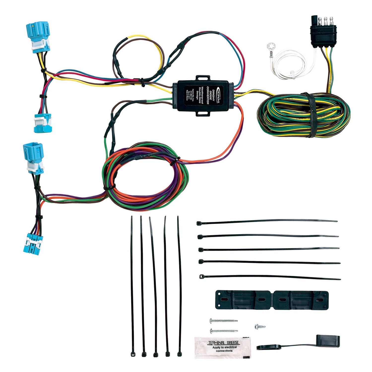 hight resolution of hopkins towing solution 56300 plug in simple towed vehicle wiring kit fits cr v walmart com