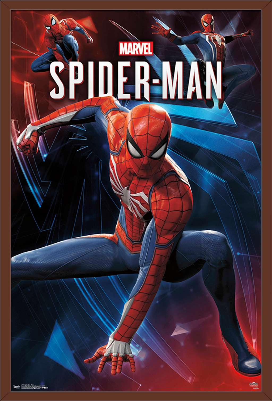 marvel comics spider man poses poster