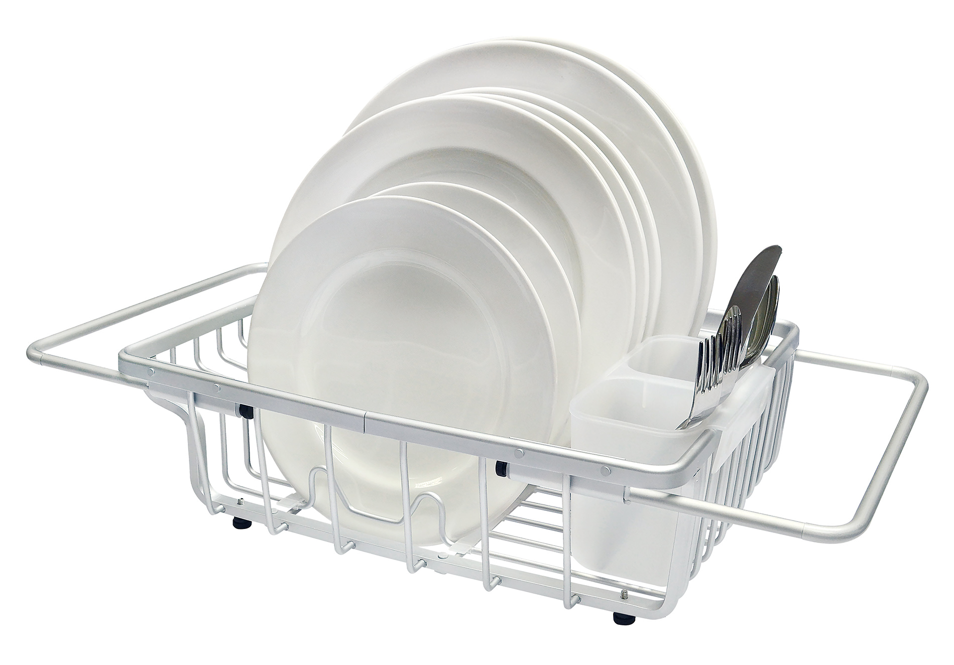 real home deluxe aluminum over the sink dish rack