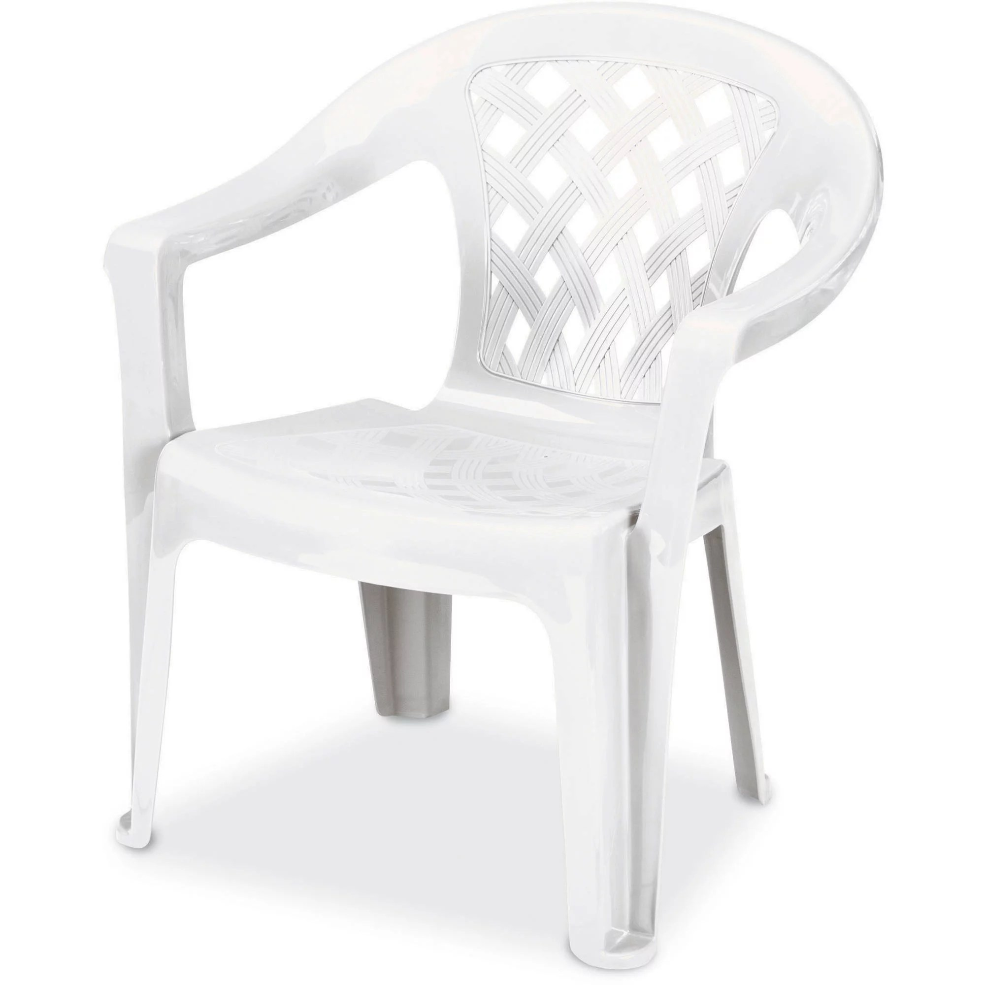 low back lawn chair ergo posture us leisure resin big and tall lowback white walmart com