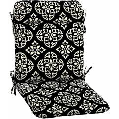 Outdoor Patio Wrought Iron Chair Pad Yellow Tufted Better Homes And Gardens Black White Medallion Walmart Com