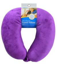 Cloudz Bright Purple Adult Microbead Travel Neck Pillow ...