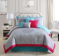 Gloriane Embroidery 7 piece comforter set Queen - Walmart.com