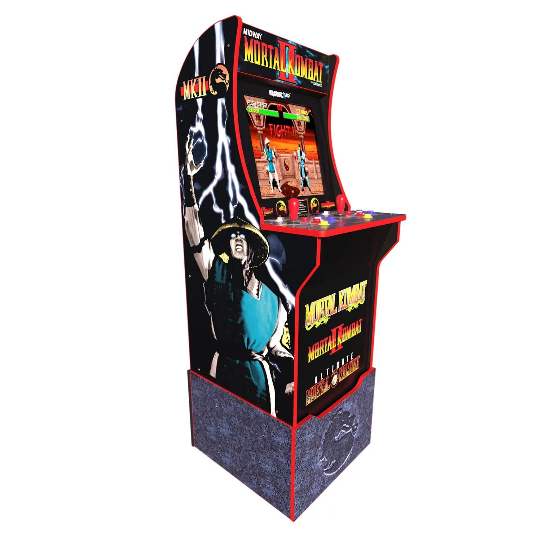 Mortal Kombat Arcade Machine w/ Riser, Arcade1UP (Includes Mortal Kombat I, II, III)