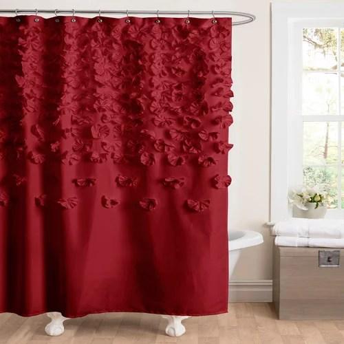 Lucia Red Shower Curtain  Walmartcom