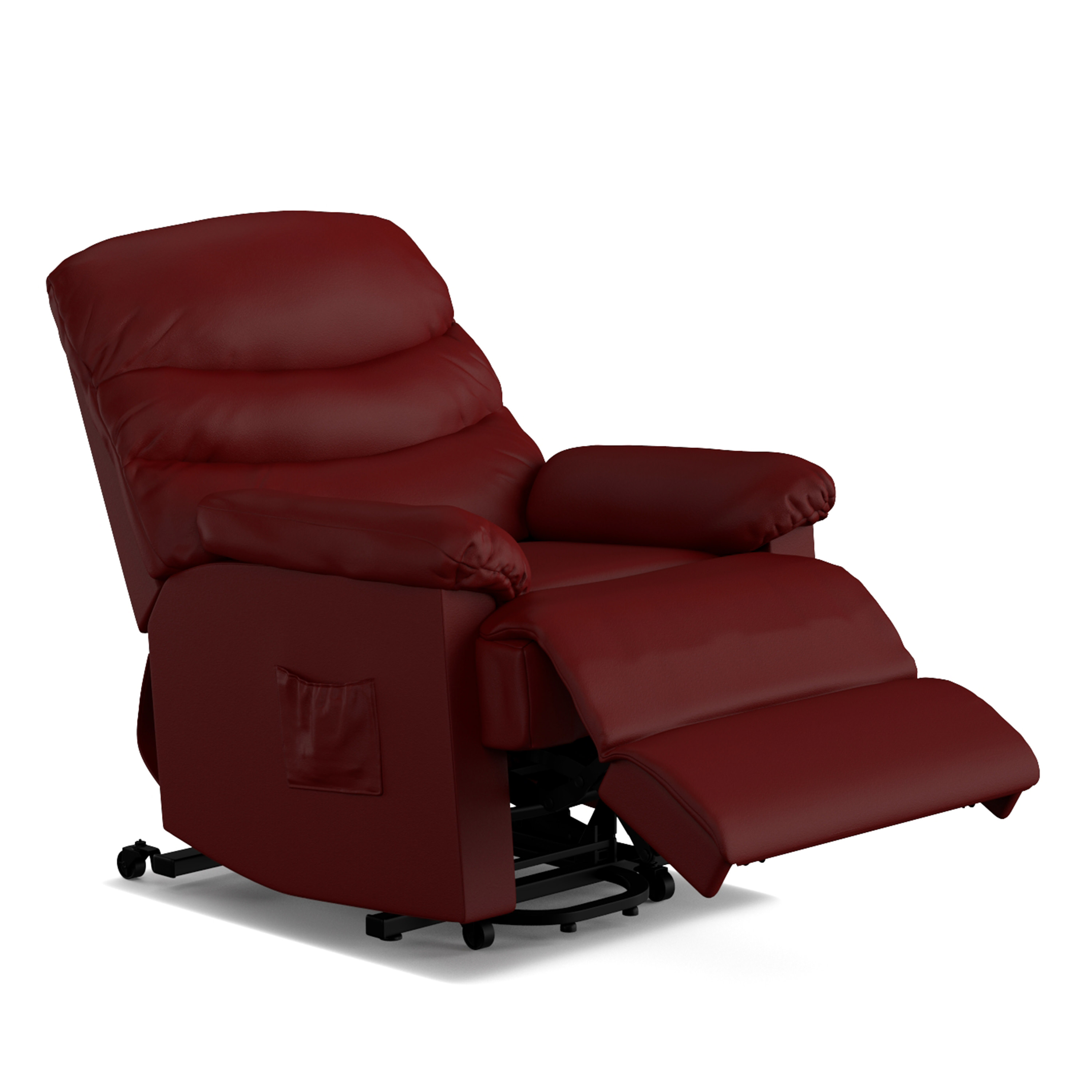 Wall Hugger Lift Chair Ordway Wall Hugger Power Recliner And Lift Chair In Burgundy Red Pu