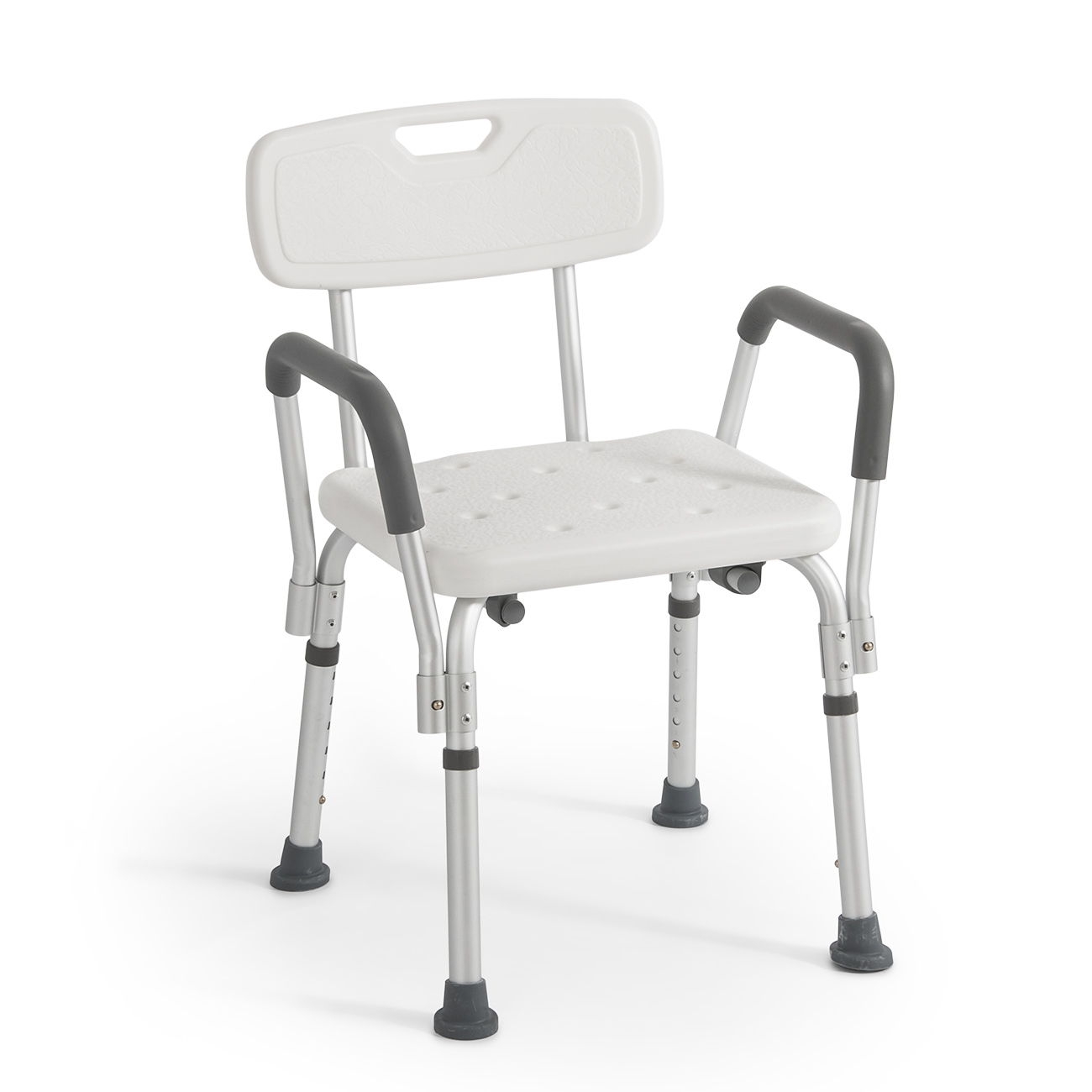 shower chair with back and armrests small folding drive medical premium series arms walmart com