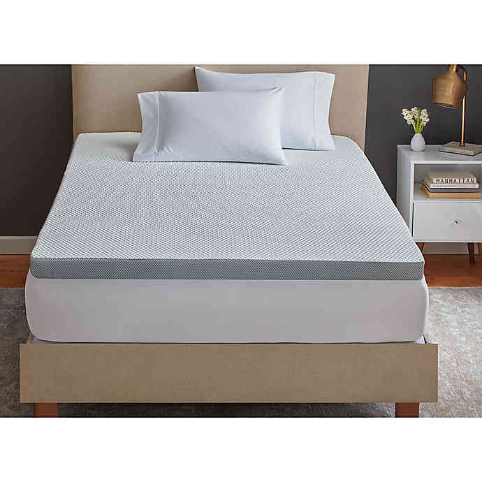 therapedic tru cool 3 inch full serene foam performance mattress topper