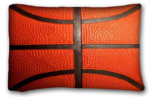 WinHome Basketball Pattern Zippered Pillowcases Pillow