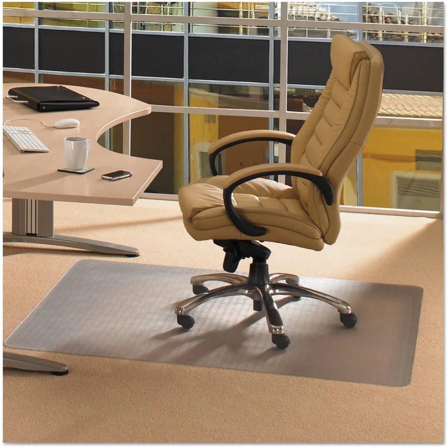 swivel chair on carpet x rocker gaming cleartex advantagemat mat for carpets 1 4 or less size 30 48 walmart com